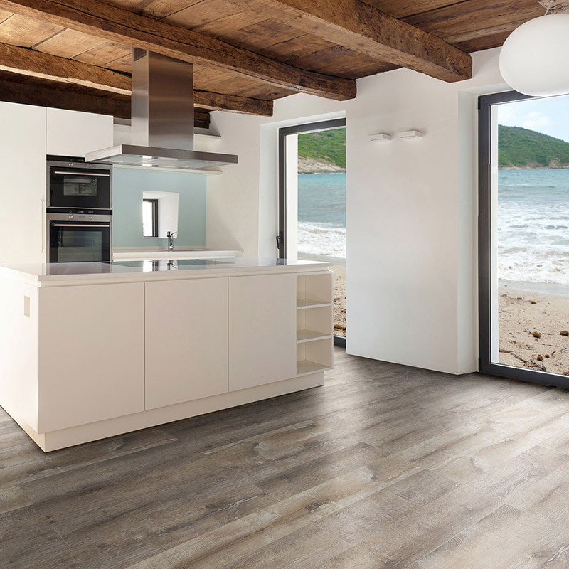 Laminated Flooring Special Characters And Specifications ... American Coastal Collection of laminate flooring. The stunning flooring  features a hand-scraped finish for incredible realistic texture and comfort.